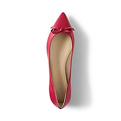 Lands' End - Pink regular pointed toe ballet pumps