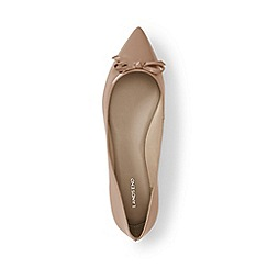 Lands' End - Brown regular pointed toe ballet pumps
