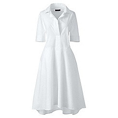 Lands' End - White poplin popover shirtdress