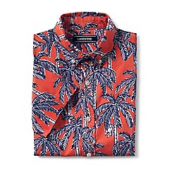 Lands' End - Boys' red printed short sleeve shirt