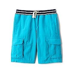 Lands' End - Boys' blue adventure cargo shorts