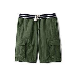 Lands' End - Boys' green adventure cargo shorts