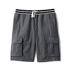 Lands' End - Boys' grey adventure cargo shorts