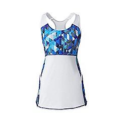 Lands' End - Blue le sport speed patterned running vest