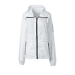 Lands' End - White le sport speed running jacket