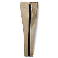 Lands' End - Green regular side stripe slim chinos