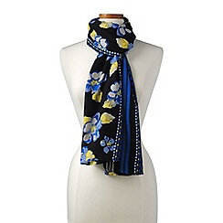 Lands' End - Blue floral print scarf