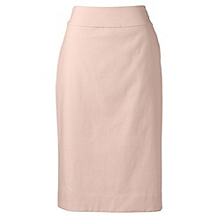 Lands' End - Orange regular basket weave stretch pencil skirt