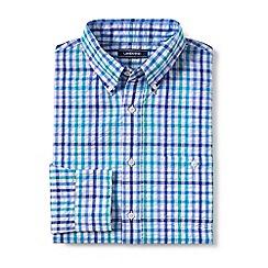 Lands' End - Blue regular long sleeve seersucker shirt
