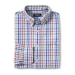 Lands' End - Multi regular long sleeve seersucker shirt