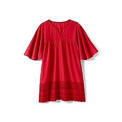 Lands' End - Girls' red floaty cover up