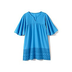 Lands' End - Girls' blue floaty cover up
