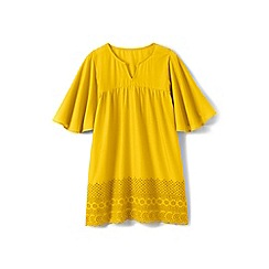 Lands' End - Girls' yellow floaty cover up