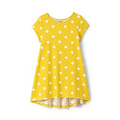 Lands' End - Girls' yellow dot print trapeze legging top