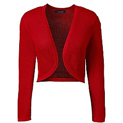Lands' End - Red supima pointelle bolero