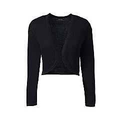 Lands' End - Black plus supima pointelle bolero
