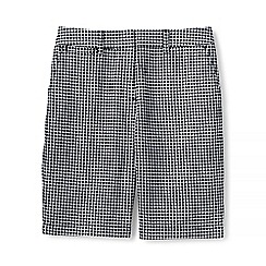 Lands' End - Black regular textured chino shorts