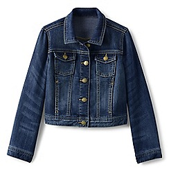 Lands' End - Girls' blue denim jacket