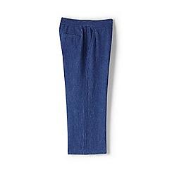 Lands' End - Blue plus print linen wide leg crop trousers