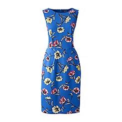 Lands' End - Blue ponte jersey darted dress
