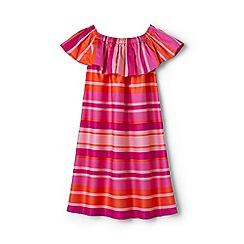 Lands' End - Girls' multicoloured off the shoulder smocked dress