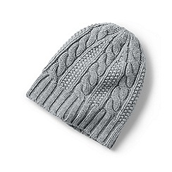 Lands' End - Grey cashmere cable hat