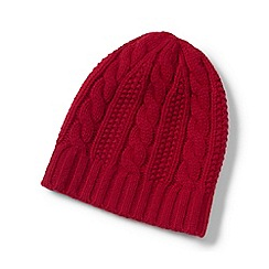 Lands' End - Red cashmere cable hat