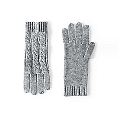 Lands' End - Grey cashmere cable gloves