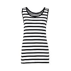 Lands' End - Black cotton stripe vest top