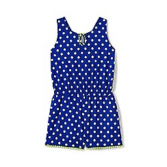 Lands' End - Girls' blue playsuit