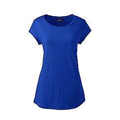 Lands' End - Blue regular slub jersey pocket t-shirt