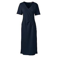 Lands' End - Blue lightweight ponte jersey dress