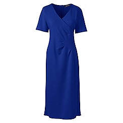 Lands' End - Blue lightweight ponte jersey dress