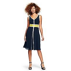 Lands' End - Blue pleat skirt dress