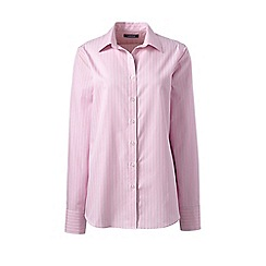 Lands' End - Pink classic fit print non-iron shirt