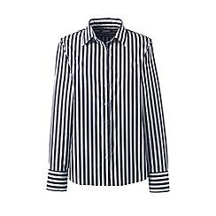 Lands' End - Blue petite classic fit print non-iron shirt