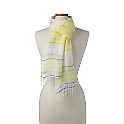 Lands' End - Yellow variegated stripe linen scarf