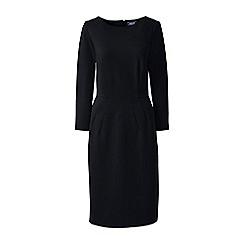 Lands' End - Black ponte jersey darted dress