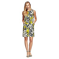 Lands' End - Yellow printed shift dress