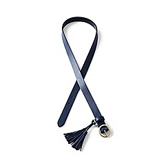 Lands' End - Blue leather tassel belt
