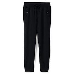 Lands' End - Black petite jogger trousers