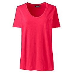 Lands' End - Pink plus short sleeve pocket t-shirt