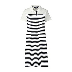 Lands' End - Multi short sleeves stripe pique polo dress
