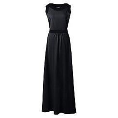 Lands' End - Black regular stretch jersey maxi dress