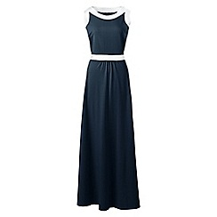 Lands' End - Blue petite stretch jersey maxi dress