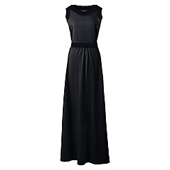 Lands' End - Black petite stretch jersey maxi dress