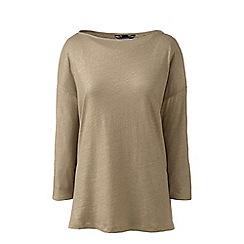Lands' End - Brown petite long shimmer top