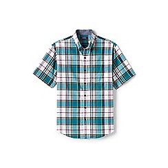 Lands' End - Multi tall short sleeve madras shirt