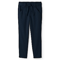 Lands' End - Blue plus super-soft tie waist chino trousers