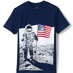 Lands' End - Kids' blue graphic tee